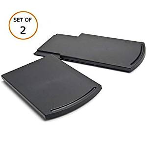 """Multiuse Kitchen Caddy Sliding Coffee Maker Tray Mat,Countertop Storage for Blender Toaster Kitchen Appliances-12"""" Premium BPA Free Base Sliding Shelf with Smooth Rolling Wheels